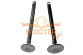Клапаны (компл. 2шт) для скутера с двигателем 4T 139QMB стандартные d=16/18, 5