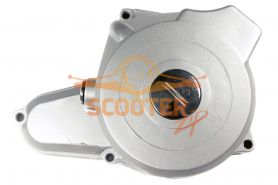 Крышка левого картера двигателя для мопеда с двигателем 4T 139FMB (мопед) 50сс передн. (верхний эл.стартер) 2 катушки