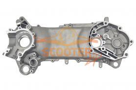 Картер двигателя левый для скутера с двигателем 2T Stels Tactic/Vortex 50cc