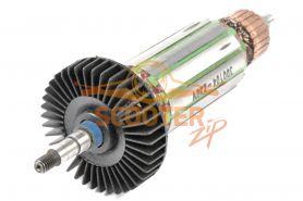 Ротор (Якорь) Интерскол УШМ-125 (L-160 мм, D-33 мм, резьба М6 (шаг 1.25 мм))