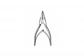 ℗ Клещи DIN5254-А19 для наруж. стоп. колец