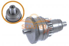 Бендикс (зубчатый привод стартера) для скутера Honda Dio/Tact