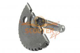 Зубчатый сектор кикстартера для скутера с двигателем 4T 139QMB 50сс (колесо 12. L-55mm) голый