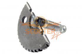 Зубчатый сектор кикстартера для скутера с двигателем 4T 139QMB 50сс (колесо 10. L-65mm) голый