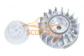 Маховик для бензопилы STIHL MS-270, 280 комплект (11334001204+11331950401)