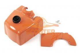 Крышка коробки карбюратора  для бензопилы STIHL MS-341,361 НАБОР зимний (+защита стартера)