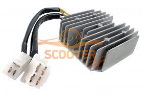 Регулятор напряжения для скутера с двигателем 4T 125-150сс 2 фишки 7 контактов