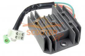 Регулятор напряжения для скутера с двигателем 4T 125-150сс 1 фишка 4+1 контакт