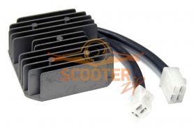Регулятор напряжения для скутера с двигателем 4T 125-150сс 2 фишки 6 контактов