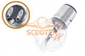 Лампа фары B35 BA20D (груша) 12V 35/35W прозрачная