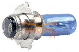 Лампа фары галоген HQ c улучш. фокусом P15D-25-3 12V 35/35W синяя
