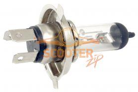 Лампа фары галоген HQ c улучш. фокусом H4 P43T 12V 18/18W прозрачная