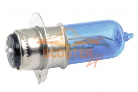 Лампа фары галоген HQ c улучш. фокусом P15D-25-1 12V 18/18W синяя
