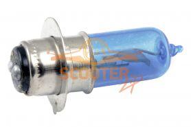 Лампа фары галоген P15D-25-1 12V 35/35W синяя
