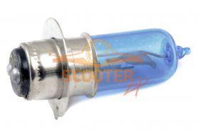 Лампа фары галоген HQ c улучш. фокусом P15D-25-1 12V 35/35W синяя
