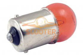 Лампа поворота G18 12V 10W цоколь 1 конт. Желтая