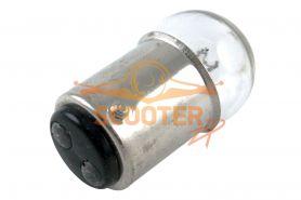 Лампа стоп сигнала G18 12V 18/5W цоколь 2 конт. Прозрачная