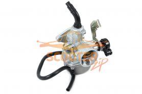 Карбюратор для мопеда с двигателем 4T 139FMB, 147FMH, 152FMH DELTA, ALPHA 70-110cc; DINGO T-125; D-19 (пластиковый рычаг заслонки)