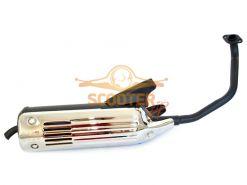 Глушитель для скутера с двигателем 4T 152QMI, 157QMJ 125/150сс цельный (колесная база 12-13)
