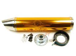 Глушитель для скутера с двигателем 4T 152QMI, 157QMJ (прямоток) №2