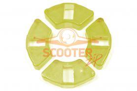 Демферные резинки заднего диска для мопеда с двигателем 4T 139FMB (мопед) 50сс (силикон)