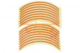Наклейки светоотражающие на колесный диск (2шт) 10 база