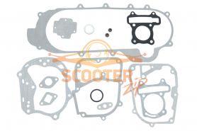 Прокладки комплект полный для скутера с двигателем 4T 139QMB 63сс d=44 (колесная база 12)