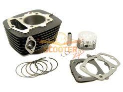 Цилиндро-поршневая группа для мотоцикла с двигателем 4Т 166FMM (CB250) 250см3 d-66.5 p-15