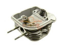 Головка цилиндра для скутера с двигателем 4Т 161QMK (GY6) (масл.охл) d-61 в сборе (клапана, пружины, свеча)