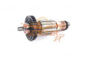 Ротор (Якорь) MAKITA для перфоратора HR1830 (L-128 мм, D-32 мм, 6 зубов, наклон вправо)