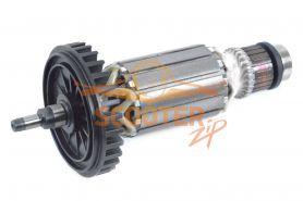 Ротор (Якорь) MAKITA для шлифмашины угловой 9015B, 9016B (L-165 мм, D-41 мм, вал без резьбы под стопорное кольцо)