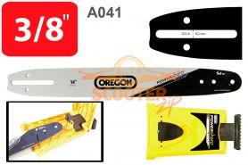Шина 14'' (цепь 52 звена, посадка -1.3, шаг 3/8, 35см.) A041 + заточное устройство PowerSharp  OREGON