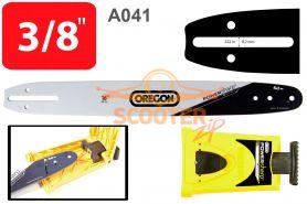 Шина 16'' (цепь 56-57 звеньев, посадка -1.3, шаг 3/8, 40см.) A041 + заточное устройство PowerSharp  OREGON