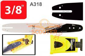 Шина 16'' (цепь 54-56 звеньев, посадка -1.3, шаг 3/8, 40см.) A318 + заточное устройство PowerSharp OREGON