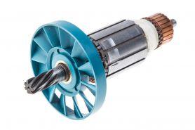 Ротор MAKITA HM0810, HM0810B, HM0810T (L-165 мм, D-41 мм, 7 зубов, наклон влево) аналог 516148-3