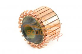 Коллектор для ротора D23.5, 24 ламели, пазы, непродороженный