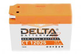 АКБ   CT 12025 4B-BS 2,5ah Suzuki,Yamaha (114 х 38 х 86) DELTA