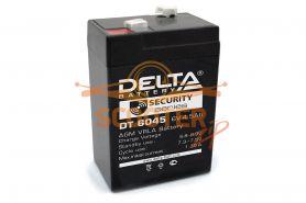 АКБ   DT 6045 гелевый 6V 4,5ah (70 x 47 x 102) DELTA