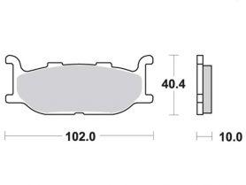 Колодки дискового тормоза Yamaha Majesty 400 (без ABS) передние TRW (Германия)