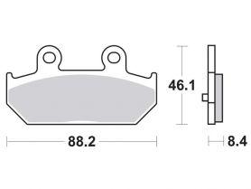 Колодки дискового тормоза Suzuki Burgman-650 (SkyWawe) (задние) TRW (Германия)