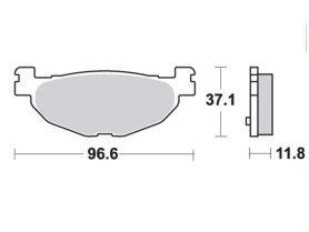 Колодки дискового тормоза Yamaha Majesty 400 задние TRW (Германия)