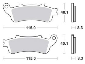 Колодки дискового тормоза HONDA SILVER WING 400/600 (передние) TRW (Германия)