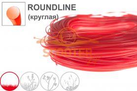 Леска для триммера 2, 4мм* 15м ROUNDLINE (красная круглая) OREGON
