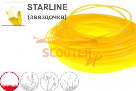 Леска для триммера 2,0мм* 15м STARLINE (желтая звездочка) OREGON